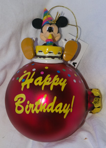 Mickey Mouse Christmas Birthday ornament